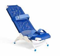 Rifton large soft fabric blue wave bath chair
